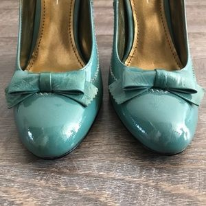 Linea Paolo 'La Rue' MaryJane heel-turquoise 6 1/2